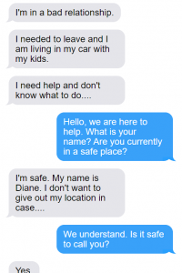 A fake text chat with a survivor